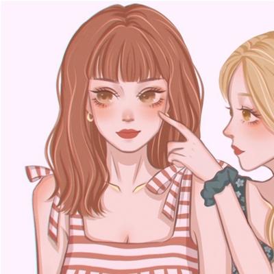 卡通闺蜜头像一萌一酷霸气_WWW.QQYA.COM