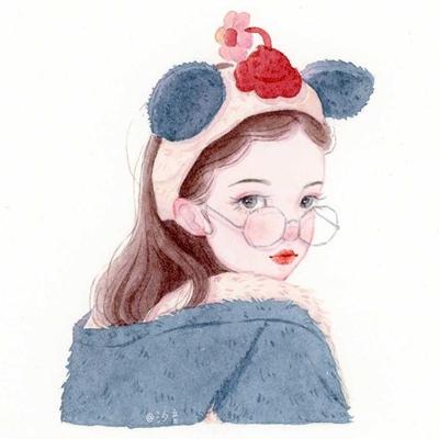 唯美彩绘图片女生头像_WWW.QQYA.COM