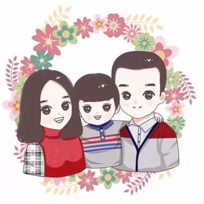 三口之家可爱头像_WWW.QQYA.COM