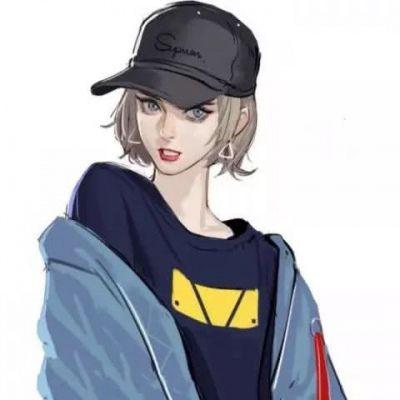 高清漫画图片女生帅气高冷头像_WWW.QQYA.COM