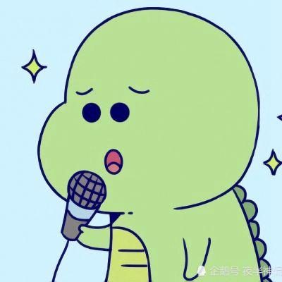 小恐龙情侣头像一左一右_WWW.QQYA.COM