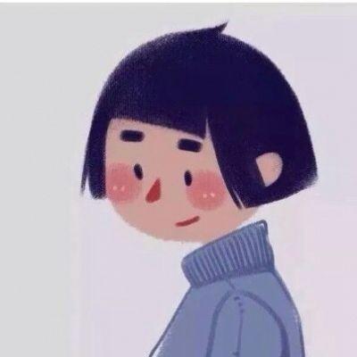 小清新头像卡通简约女_WWW.QQYA.COM