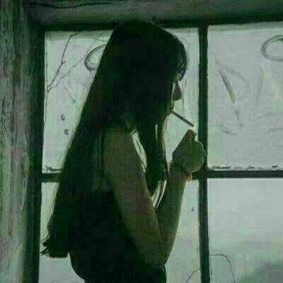 女生抽烟头像高清大图_WWW.QQYA.COM