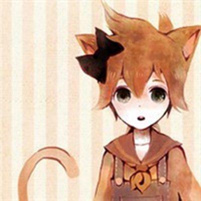 二次元猫耳朵情侣头像_WWW.QQYA.COM