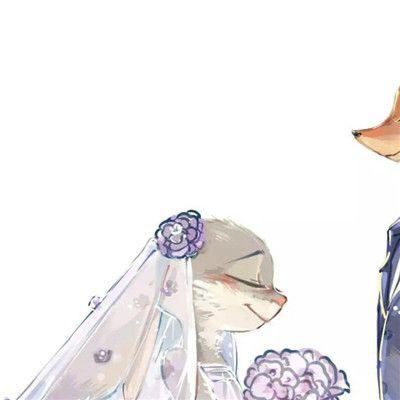 狐狸情侣头像一对两张_WWW.QQYA.COM