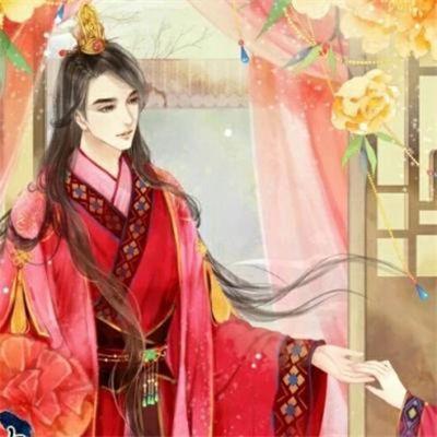 古风情侣头像红衣一对_WWW.QQYA.COM