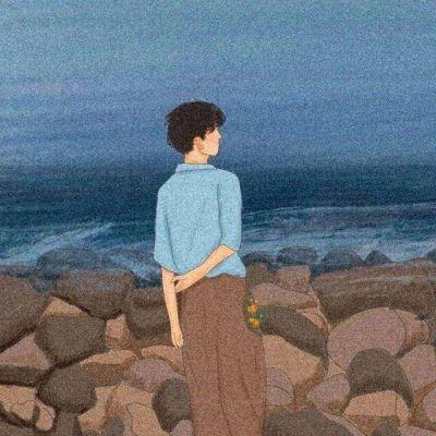 文艺简约清新头像情侣_WWW.QQYA.COM
