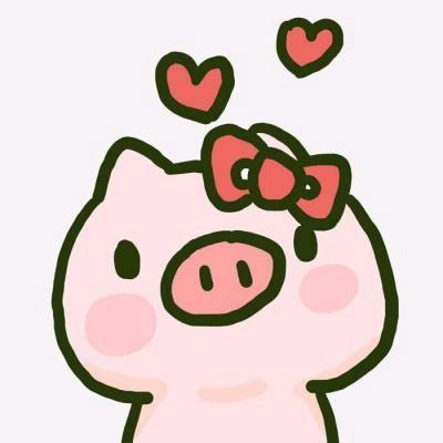 高清可爱的猪猪一对两张情侣头像图片_WWW.QQYA.COM
