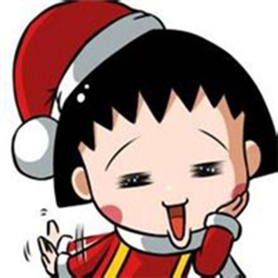c樱桃小丸子和花轮情侣头像_WWW.QQYA.COM