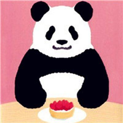 可爱卡通熊猫头像图片_WWW.QQYA.COM