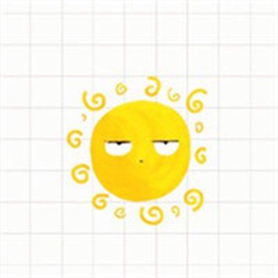 萌系小太阳卡通头像_WWW.QQYA.COM
