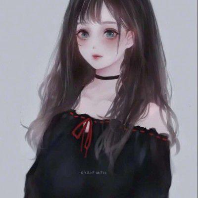 黑暗系二次元女生头像_WWW.QQYA.COM