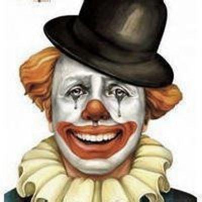 小丑头像流泪着微笑_WWW.QQYA.COM