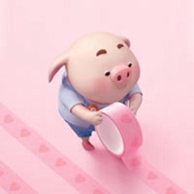 唯美猪头像可爱图片_WWW.QQYA.COM