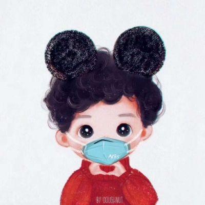 戴口罩微信头像可爱合集_WWW.QQYA.COM