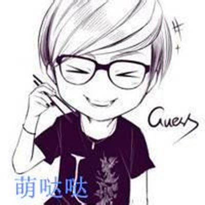 戴眼镜男生卡通头像_WWW.QQYA.COM