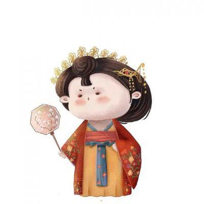 可爱胖胖的小女孩图片卡通头像_WWW.QQYA.COM