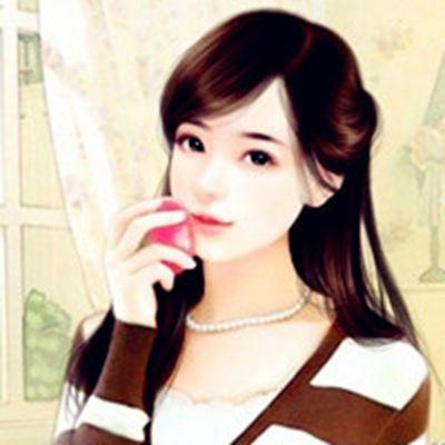 手绘美女头像_WWW.QQYA.COM