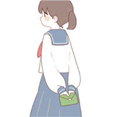 卡通双人闺蜜姐妹头像一对_WWW.QQYA.COM
