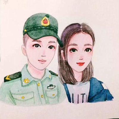 军人情侣头像_WWW.QQYA.COM