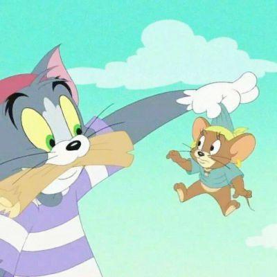 汤姆猫情头一左一右_WWW.QQYA.COM