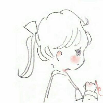 漫画情头一男一女两张_WWW.QQYA.COM