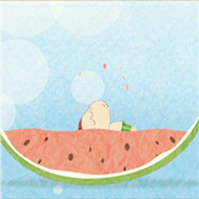 个性头像西瓜图片卡通小清新_WWW.QQYA.COM