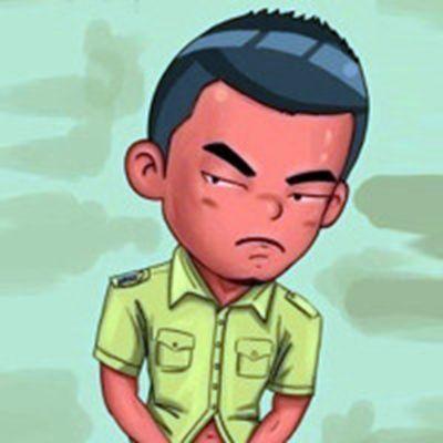 卡通健身头像_WWW.QQYA.COM