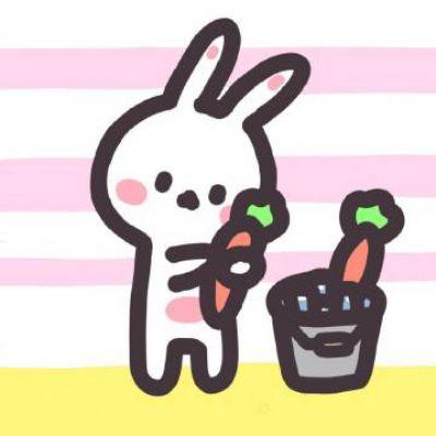 超可爱的小兔子头像_WWW.QQYA.COM