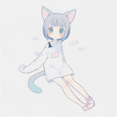 动漫头像女生可爱猫耳_WWW.QQYA.COM
