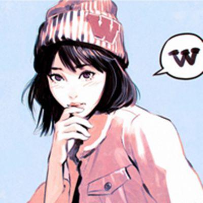 手绘二次元动漫美女头像戴帽子的_WWW.QQYA.COM