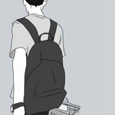 情侣头像动漫一男一女两张分开_WWW.QQYA.COM