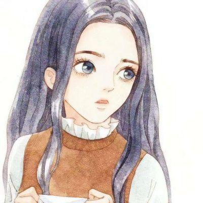 个性女生手绘头像_WWW.QQYA.COM