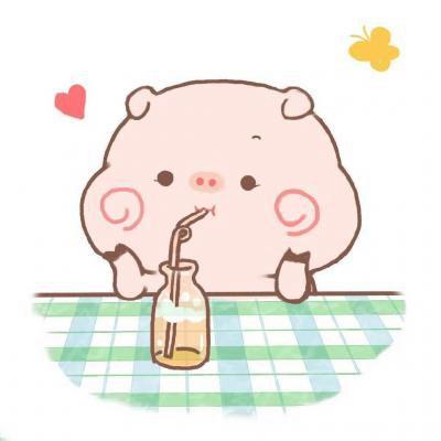 最新超可爱卡通微信头像呆萌小猪_WWW.QQYA.COM