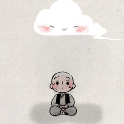 一禅小和尚微信头像_WWW.QQYA.COM