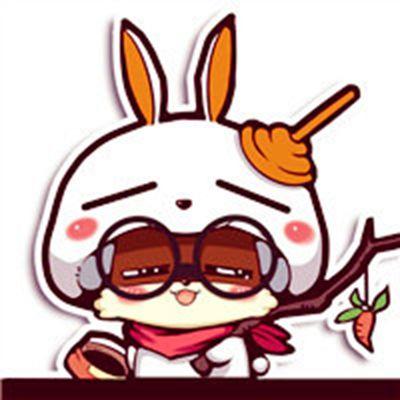 可爱流氓兔头像_WWW.QQYA.COM