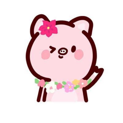 可爱卡通小猪头像情侣一人一张_WWW.QQYA.COM