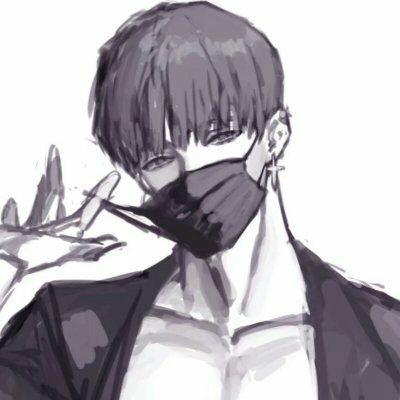漫画头像男生帅气冷漠黑白_WWW.QQYA.COM