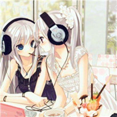 卡通姐妹头像一左一右_WWW.QQYA.COM