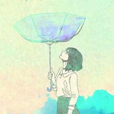 12组手绘情侣头像一男一女_WWW.QQYA.COM