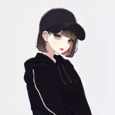 短发卡通头像女生高冷_WWW.QQYA.COM