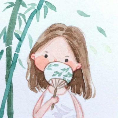 高清清新的简单可爱小女孩漫画头像图片_WWW.QQYA.COM