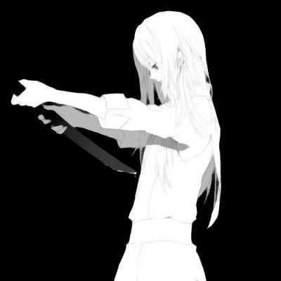 高清超酷的黑化女生头像高冷二次元图片_WWW.QQYA.COM