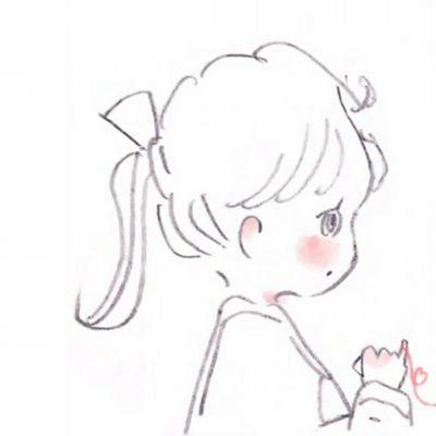 男女简笔画情侣头像_WWW.QQYA.COM
