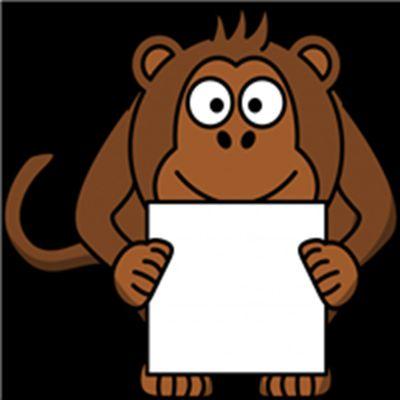 卡通猴子头像图片_WWW.QQYA.COM
