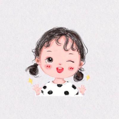 手绘小女孩头像超萌图片_WWW.QQYA.COM