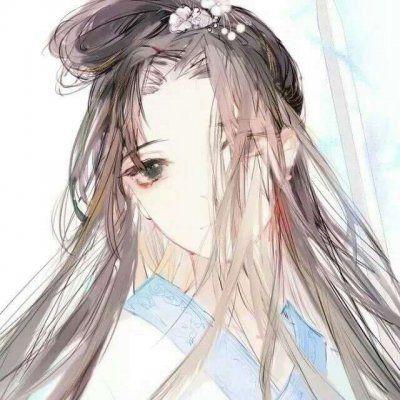 漫画古风女生手绘图片头像_WWW.QQYA.COM