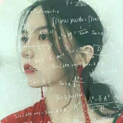 微信头像女生带数学公式_WWW.QQYA.COM