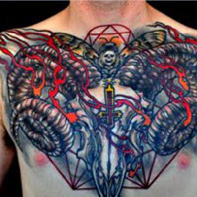 个性头像胸部纹身图案大全图片_WWW.QQYA.COM