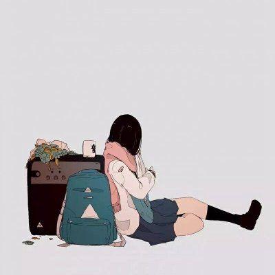 动漫背影头像女生_WWW.QQYA.COM